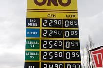 Nejlevnější benzin i nafta u sledovaných čerpaček na Nymbursku je v Kolajích.