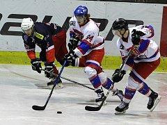 Z hokejového utkání druhé ligy Nymburk - DS České Budějovice (2:3)