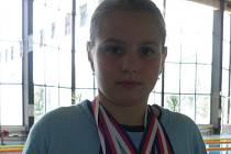 Plavkyně nymburské Lokomotivy Daniela Mourková získal tři stříbra a jeden bronz