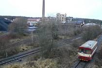 Areál uhelných skladů v bývalém cukrovaru v Dymokurech.