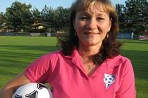 JITKA HAMPLOVÁ z Poříčan je úzce spjata s fotbalem.