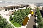 Vizualizace: moderní varianta nymburského nádraží.