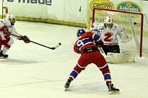 Z hokejového utkání druhé ligy Nymburk - Žďár nad Sázavou (3:3 pp)
