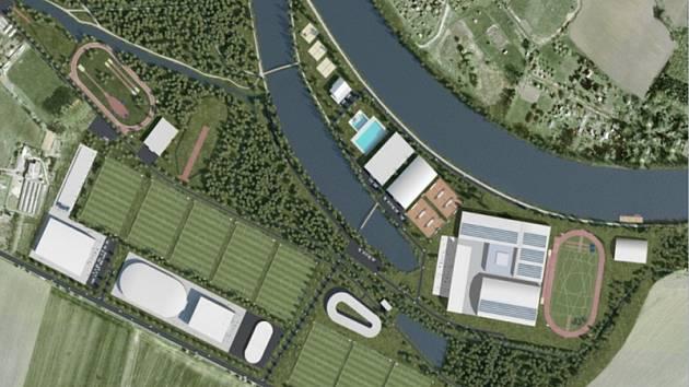 Budoucí podoba Olympijského centra v Nymburce