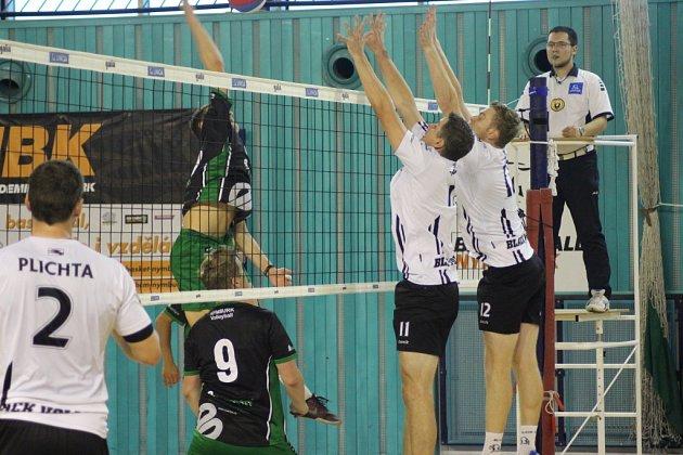 Zvolejbalového utkání první ligy Nymburk - Beskydy (0:3)