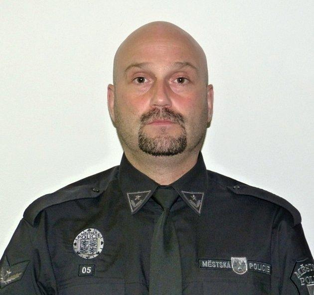 Velitel Městské policie Beroun Alexandr Scherber.