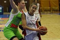 Z basketbalového utkání ŽBL Nymburk - Žabiny Brno (79:66)