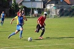 Z fotbalového utkání okresního přeboru Opočnice - Všejany (2:0)