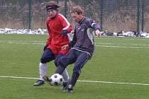 Z fotbalového utkání Polaban Nymburk - Polepy (2:7)