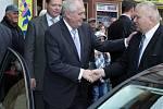Prezident republiky Miloš Zeman navštívil Nymburk.