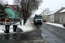 Revoluční ulice v Poděbradech.