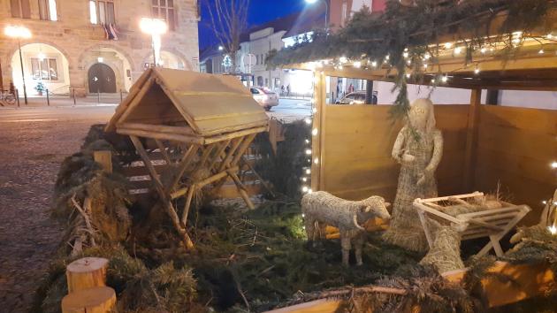 Vánoční náměstí v Nymburce.