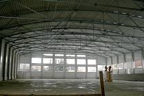 Poděbradský zimní stadion před dokončením