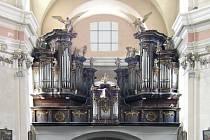 Barokní varhany v kostele sv. Jana Křtitele v Lysé nad Labem.