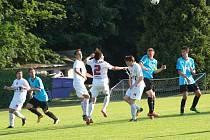Z fotbalového utkání I.A třídy Bohemia Poděbrady - Luštěnice (3:2)