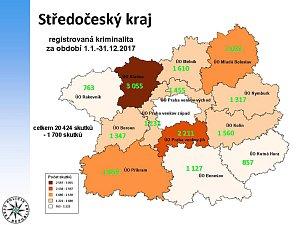 Statistika kriminality v roce 2017 ve Středočeském kraji