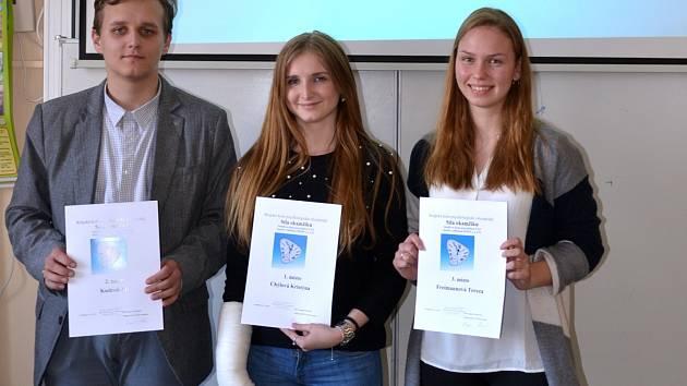 Vítězové letošního krajského kola psychologické olympiády.