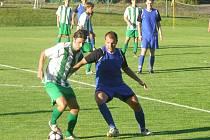 Z okresního fotbalového derby krajského přeboru Semice - Polaban Nymburk (4:0)
