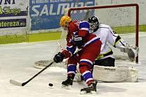 Z utkání druhé hokejové ligy Nymburk - Moravské Budějovice (5:2)