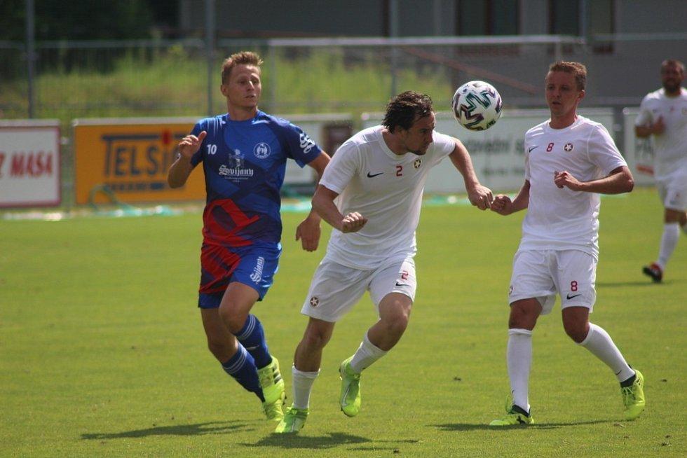 Z přípravného fotbalového utkání Bohemia Poděbrady - Turnov (3:5)