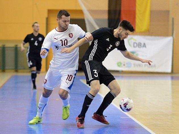 Z loňského přípravného zápasu v plzeňské hale Lokomotiva. Český tým vyhrál nad Německem vysoko 13:2.
