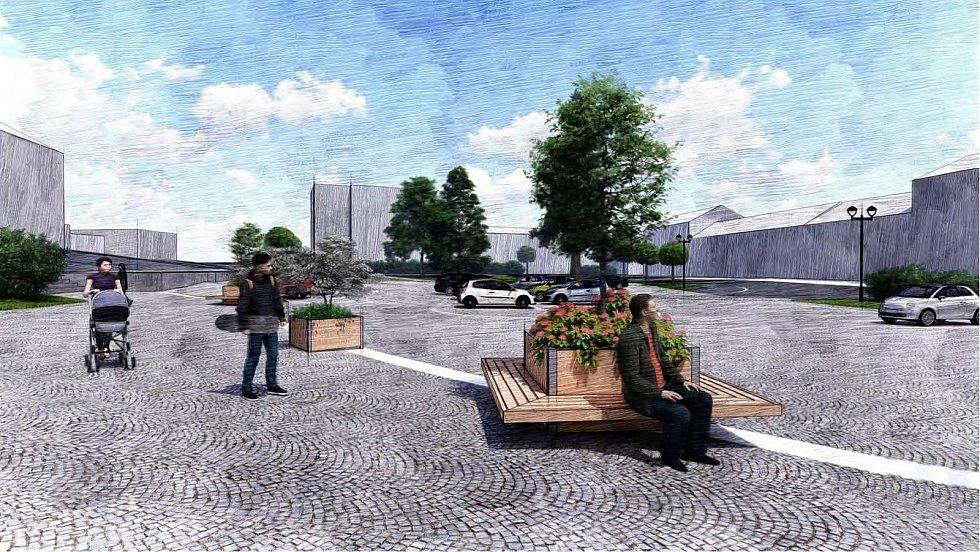 Mobilní květináče mají být rozmístěné na Husově náměstí.