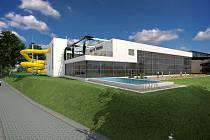 Vizualizace nového bazénu.