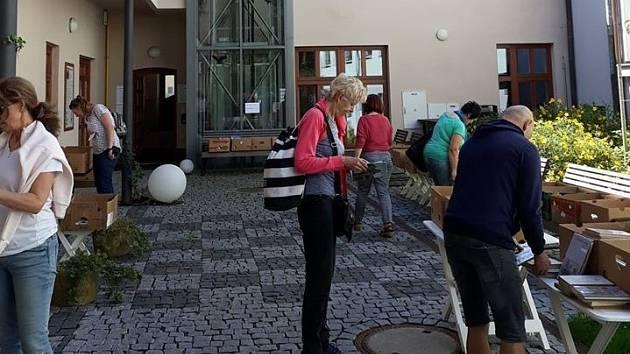 Atrium Městské knihovny Poděbrady.