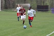 Z fotbalového utkání krajského přeboru Bohemia Poděbrady - Lhota (1:1, na penalty 5:4)