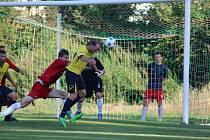 Z fotbalového utkání I.B třídy Lysá - Pátek (1:3)