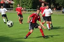 Z přípravného fotbalového utkání Sokoleč - Ostrá (3:1)