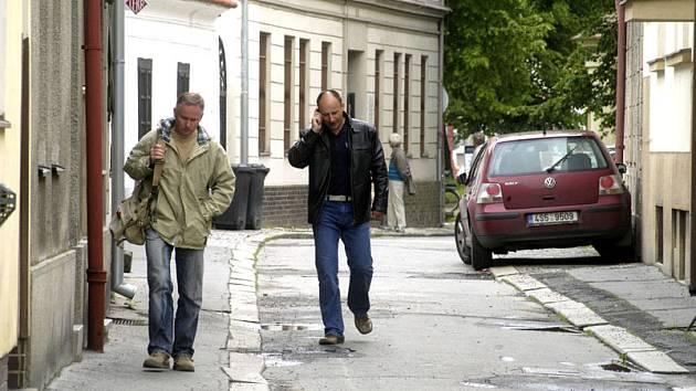Ulice Labská a Na Dláždění jsou před postupnou rekonstrukcí.