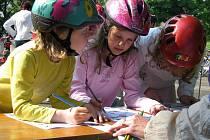 Den zdravých dětí v nymburském Parku svobody
