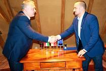Z návštěvy delegace představitelů maďarského města Kistarcsa v Milovicích.