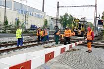 Oprava klíčového přejezdu v Poděbradech
