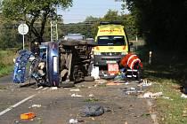 Při vážné dopravní nehodě, která se stala v neděli kolem osmé hodiny ráno, zemřel spolujezdec.