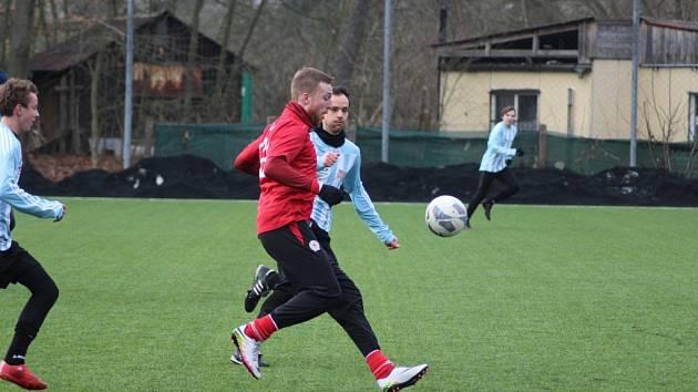 Z přípravného fotbalového utkání Bohemia Poděbrady - Ostrá (0:4)