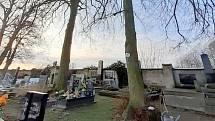 Situace na milovickém hřbitově a v jeho blízkosti.