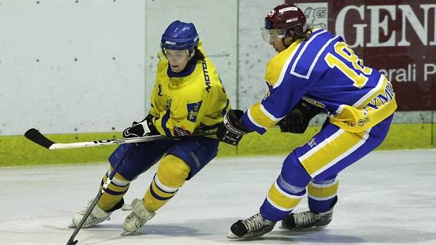 Z utkání druhé hokejové ligy mezi Nymburkem a Jindřichovým Hradcem (1:4)