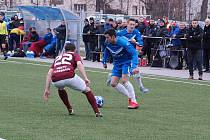 Z fotbalového utkání krajského přeboru Bohemia Poděbrady - Poříčany (1:1, na penalty 3:2)