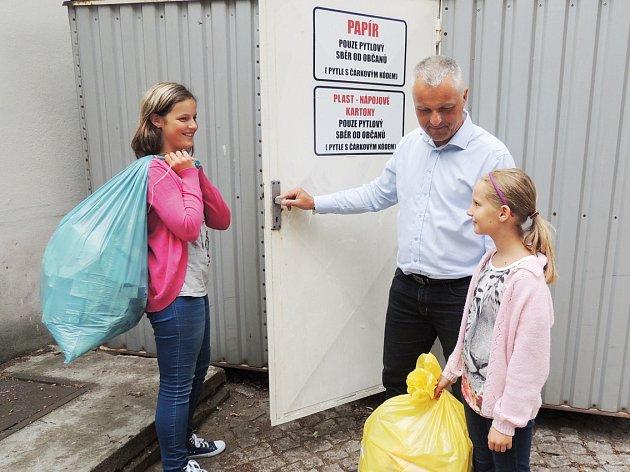 PODOBNÝ SYSTÉM třídění odpadů, jako zavádí v Milovicích, funguje v Nymburce už od roku 2014.