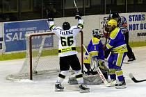 Z utkání play off druhé hokejové ligy Nymburk - Moravské Budějovice (4:3 pp)