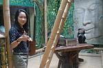 Otevření pavilonu s opičkami langur duk