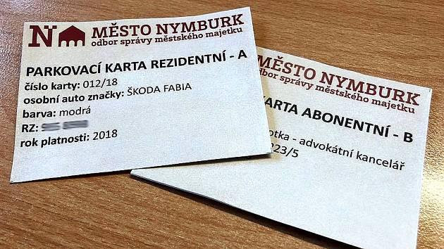 Nymburské parkovací karty mají novou grafickou podobu.