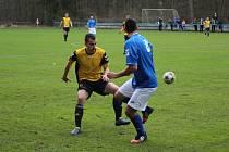 Z fotbalového utkání krajské I.B třídy Slovan Poděbrady - Sadská (0:2)