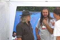 Básník Ivan Martin Jirous, zvaný Magor a hlavní organizátor trutnovského festivalu Martin Věchet