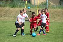 Z fotbalového turnaje dětí 3+3 ve Všechlapech