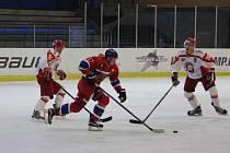 Z hokejového utkání druhé ligy Nymburk - Pelhřimov (3:4 pp)