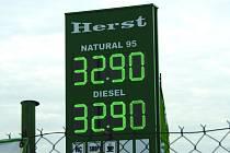 Nejlevnější benzin u 14 námi sledovaných benzinek má firma Herst na nymburském Zálabí.