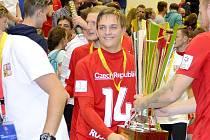 Stanislav Rosendorf ze Sán se stal v dresu české reprezentace do 21 let mistrem světa v malé kopané.